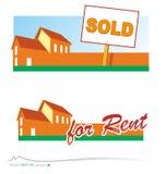 Vector real estate Royalty Free Stock Photos
