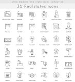 Vector Real estates house ultra modern outline line icons for web and apps. Royalty Free Stock Photo