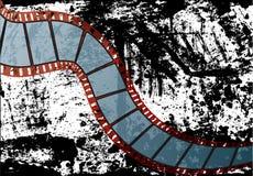Vector realista de la tira de la película Imagen de archivo