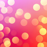 Vector realistic abstract background blurred defocused bokeh lights Stock Photography