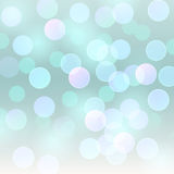 Vector realistic abstract background blurred defocused light blue bokeh lights Stock Photography