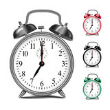 Vector realistic alarm clock template. Royalty Free Stock Photo
