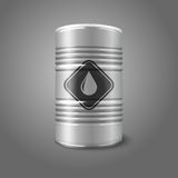 Vector realistic big oil barrel with sign, Stock Images