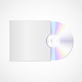 Vector realistic  blank compact disc Stock Photos