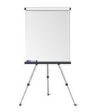 Vector realistic blank flipchart isolated on white background Stock Photography