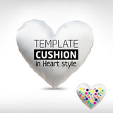 Vector realistic blank heart white cushion Royalty Free Stock Photo