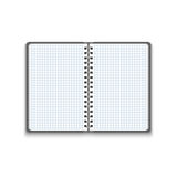 Vector Realistic Blank Open Notebook Stock Photography