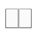 Vector Realistic Blank Open Notebook Stock Photos