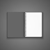 Vector Realistic Blank Open Notebook Stock Photo