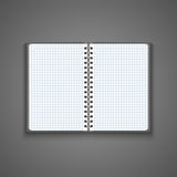 Vector Realistic Blank Open Notebook Royalty Free Stock Photo