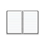 Vector Realistic Blank Open Notebook Royalty Free Stock Images