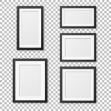 Vector realistic blank picture frame template set isolated. EPS10. Stock Photo