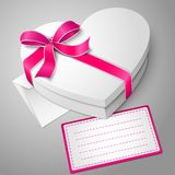 Vector realistic blank white heart shape box with Stock Photos