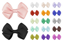 Vector realistic bow set. Template for design. Realistic bow set. Template for design. Vector EPS10 illustration Royalty Free Stock Photography
