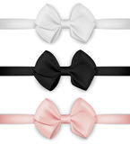 Vector realistic bow set. Template for design. Realistic bow set. Template for design. Vector EPS10 illustration Stock Photos