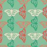 Vector realistic butterfly seamless pattern Stock Photography