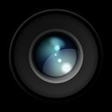 Vector Realistic Camera Lens Royalty Free Stock Photos