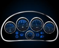 Vector realistic car dashboard Stock Images