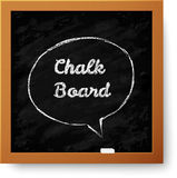 Vector realistic chalkboard with hand-drawn speech Royalty Free Stock Photo