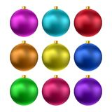 Vector realistic christmas balls Royalty Free Stock Photography