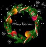 Vector Realistic Christmas Wreath Stock Photo