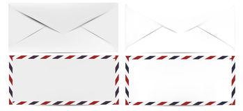 Vector realistic clean mock up envelope for design. Isolated on Stock Images