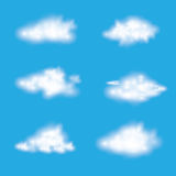Vector of realistic cloud set. Stock Images