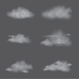 Vector of realistic cloud storm set. Royalty Free Stock Photography