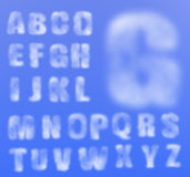 Vector realistic cloudy alphabet Royalty Free Stock Photography
