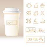 Vector realistic coffee to go cup template Royalty Free Stock Photos