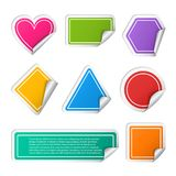 Vector realistic colorful sticker set different Stock Images