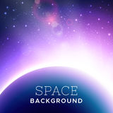 Vector realistic cosmic background Royalty Free Stock Photos