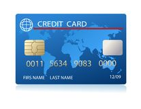 Vector realistic credit card Royalty Free Stock Images