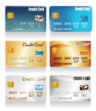 Vector realistic credit cards Stock Images