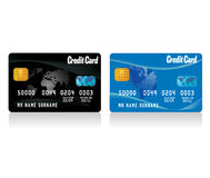 Vector realistic credit cards Royalty Free Stock Photography