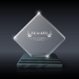 Vector realistic crystal glass trophy award Stock Photography