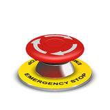 Vector realistic 3d emergency button Royalty Free Stock Images