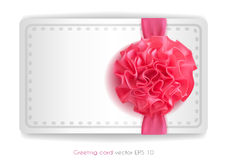 Vector realistic 3d pink silk ribbon with bow isolated. Vector realistic pink silk ribbon with bow. holiday present gift package. Sign of happy women`s day,8th Royalty Free Stock Photography