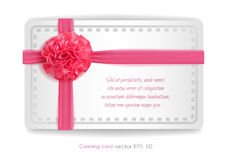 Vector realistic 3d pink silk ribbon with bow isolated. Vector realistic pink silk ribbon with bow. holiday present gift package. Sign of happy women`s day,8th Royalty Free Stock Photos