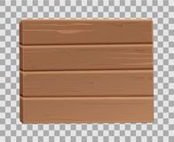 Vector realistic 3d wooden plank, sighboard. High detailed illustration, hardwood natural panel, desk, oak material textured backdrop on transparent background Stock Photo