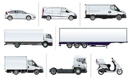 Vector realistic delivery transport mock-up Royalty Free Stock Photo
