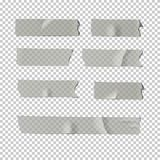 Adhesive tape set  on transparent background. Vector realistic element. Royalty Free Stock Photography