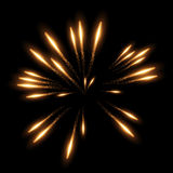 Vector realistic fireworks Royalty Free Stock Photography