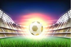 Vector realistic footbal soccer stadium background Stock Photo