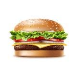 Vector Realistic Hamburger Fast Food stock illustration