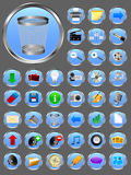 Vector realistic icons. Realistic icons for web or software design Royalty Free Stock Photography
