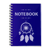 Vector realistic illustration of a blue notebook. Royalty Free Stock Photo