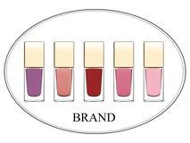 Vector realistic illustration of decorative cosmetics. 3D illustration of nail polish. Royalty Free Stock Photography