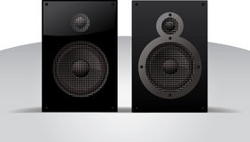 Vector realistic illustration of speakers Stock Photos
