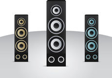 Vector realistic illustration of speakers Royalty Free Stock Photos
